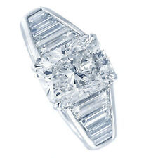 18kt G/H SI 3.00ct Radiant Cut Certified Diamond Engagement Ring