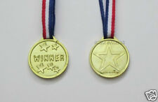 12 Plastic Gold Winner Medals Kid Party Goody Loot Bag Prize Filler Favor Supply