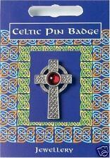 Celtic Cross Lapel Badge. Irish Welsh Scottish Celts Kernow Cymru Erin Alba bnip
