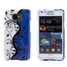 Samsung Galaxy S2 SII i9100 Blue White Black Vines Hard Case Cover Skin Shell