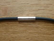 Kautschukkette 4 mm Halskette Steckverschluss Kette juwelierqualität **TOP**