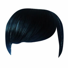 Fringe Bang Clip in on Hair Extensions STRAIGHT Jet Black #1 Front