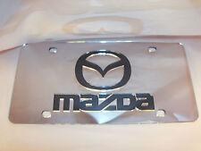 Mazda License Plate Colors - Silver/Black Brand NEW