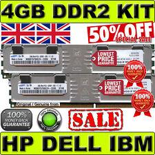 4GB (2x 2GB) PC2-5300F ECC FULLY BUFFERED equiv. to Dell memory SNP9W657CK2/4G