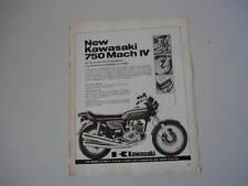 advertising Pubblicità 1972 KAWASAKI 750 MACH IV
