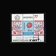 Indonesia, Sc #0999a, MNH, 1977, S/S, Flowers, Roses, Flora, Fauna, FB292-1