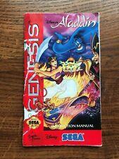 Aladdin Disney Sega Genesis Game Instruction Manual Only