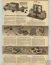 1957 PAPER AD Toy Remote Army Truck Cannon Telejector Plane Capitol Airlines