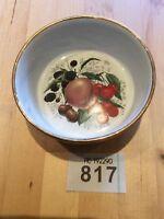 Fine Bone China Jam Pot gold edge Fruit Design Made For Dartmouth Potteries
