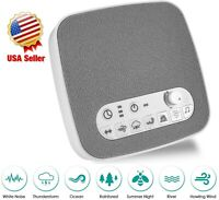 Sleep Sound Therapy Machine White Noise Ocean Wave Soothing Easy Sleeping Baby