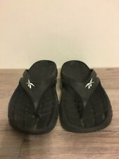 0258a28de Black Reebok Unisex Flip Flops Size Men s 10