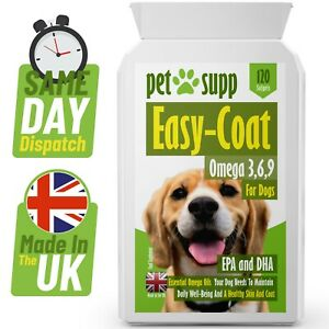 Skin & Coat Care for Dogs ⭐ Omega 3,6,9 ⭐120 Capsules ⭐ Health Supplement