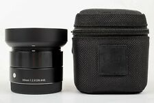 Sigma DN 30mm f/2.8 DN EX AF ASP Lens For Sony E-Mount (Black) MINT Condition!