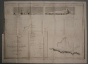 ADÉLIE LAND SOUTH OLE ANTARCTICA 1842 VINCENDON DUMOULIN ANTIQUE SEA CHART