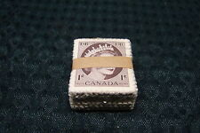 OPC 1954 Canada 1c QEII Sc#337 Bundle of Approx 100 Used