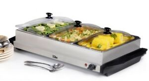 Buffet Server Tray Food Electric Warming Stainless Steel Warmer Hot Cookware New