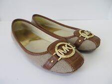 Michael Kors Fulton Fabric Ballet Flats Shoes Brown Size 7.5  #740