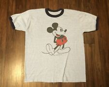 261e220a5 Vintage 80s Mickey Mouse Walt Disney Ringer T Shirt Single Stitch Land  World L