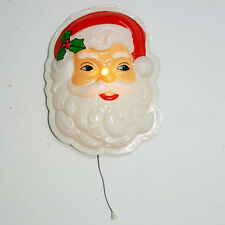 Vintage Pull Cord Santa Christmas Light Pull Cord Battery Operated Wall Hanging