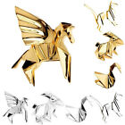 Charm Geometry Metal Cat Rabbit Horse Bird Brooch Pins Badge Corsage Jewellery