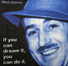 WALT DISNEY QUOTE - Printed Patch - Sew On - Vest, Jacket, Backpack, T-shirt