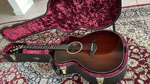 Taylor 524ce Acoustic Electric Guitar w Hardshell Case Mahogany Shaded Edgeburst