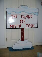 HAND MADE MISFIT SIGN  FROM RUDOLPH STORY  YARD ART DECOR