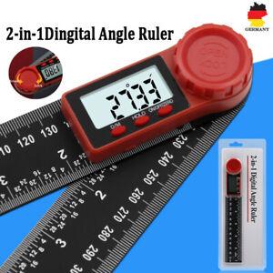 2in1 Digitaler Winkelmesser Winkelmessgerät 0-200mm  Stellwinkel Lineal Digital
