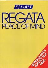 Fiat Regata Warranty & Servicing Offer 1985 UK Market Foldout Sales Brochure