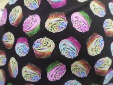 1yds print fabric good weight 4 way spandex lycra MADE IN USA J4922