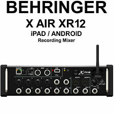 BEHRINGER X AIR XR12 iPad/Android Tri-Mode Wi-Fi FX Recording Studio Live Mixer