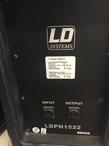 LD Systems LDPN 1522 Lautsprecher (2x)