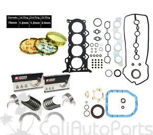 FITS: 00-09 Scion Toyota Echo Yaris 1.5L DOHC 1NZFE FULL SET ENGINE RE-RING KIT