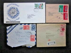 1959-1984 AN ECLECTIC MIX OF FOUR POSTALLY USED AIRLETTER COVERS.