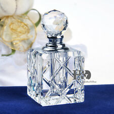 Clear Elegant Vintage Empty Refillable Crystal Glass Perfume Bottle Stopper 5ml