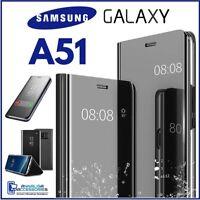 COVER FLIP PER SAMSUNG GALAXY A51 CUSTODIA LIBRO A SPECCHIO CLEAR VIEW 360° A 51