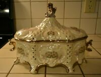 Vintage Ceramic Covered Dish Hand Crafted Reduced Price