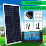 30W Solar Panel kit 12V battery Charge w/ Controller Caravan Boat Home Camp RV
