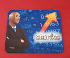 Stonks Meme Mouse Mat Pad PC & Laptop Gaming Stock Market Office Work Desk Funny