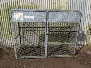Gas bottle storage cage