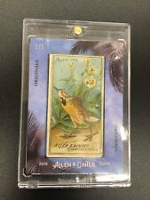 2018 Allen & Ginter Birds Of America 1/1 Original 1800's Tobacco Card