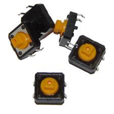 Interruptor plano pulsador / Tactile Switch 12x12x7.3mm 4 pin x5 units