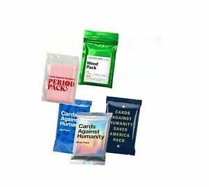 Cards Against Humanity, Weed + Pride + Period + Jew + America Pack Expansion Set