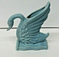 VTG Royal Haeger R430 Light Blue Swan Vase Planter USA