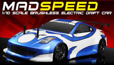 Exceed RC MadSpeed Drift King Brushless 1/10 Electric Ready to Run Blue Radio