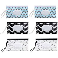 6 Pcs Portable Wet Wipe Pouches Reusable Baby Wipes Dispenser Eco Friendly  A3F3
