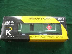K-Line Express Service Steel-Side Reefer Car K645-1911 Box Solid Clean