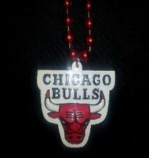 CHICAGO BULLS Mardi Gras Bead Necklace NBA Free Shipping BULLS