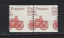 US 1981 20c Pumper Coil Pair - Misperforation Error Scott 1908