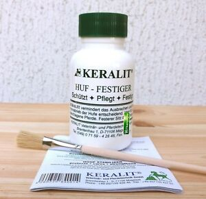 Keralit Huffestiger 250 ml + Pinsel + Anleitung   Huf Festiger für Pferde